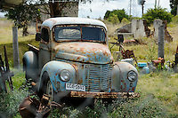 URUGUAY -  Montevideo, old cars at junkyard