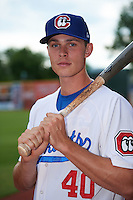 Chattanooga Lookouts outfielder Max Kepler (40) poses for a photo before a game against the Jacksonville Suns on April 30, 2015 at AT&T Field in Chattanooga, Tennessee.  Jacksonville defeated Chattanooga 6-4.  (Mike Janes/Four Seam Images)