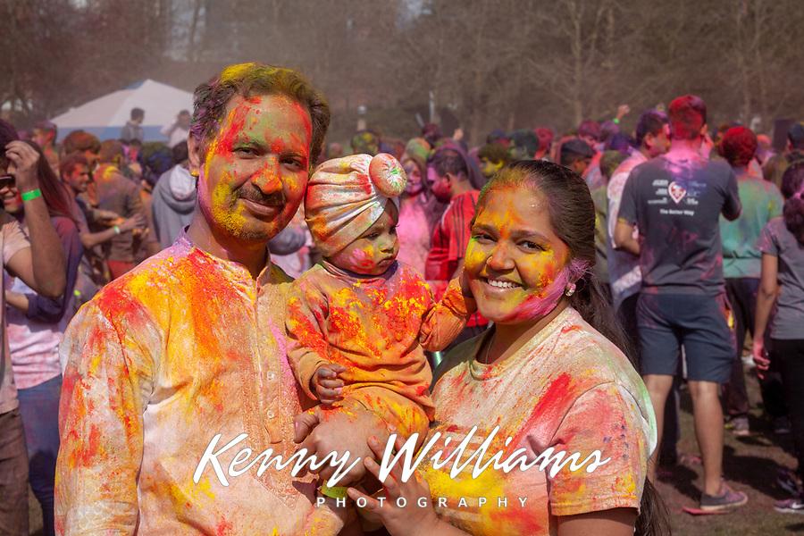 Holi Festival of Colors, Downtown Park, Bellevue, WA, USA.