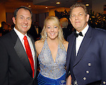 From left: Larry King Jr. with Elizabeth and Dr. Alan Lumsden at the Leading Hearts Gala VIP Reception at the Skyline Ballroom at the Hilton Americas downtown Saturday Oct. 24,2009. (Dave Rossman/For the Chronicle)