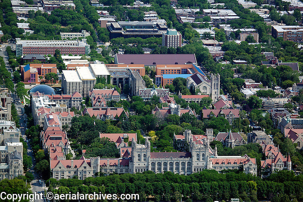aerial photograph of the University of Chicago Law School, Chicago, Illinois