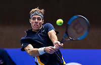 Alphen aan den Rijn, Netherlands, December 16, 2018, Tennispark Nieuwe Sloot, Ned. Loterij NK Tennis, Final men: Scott Griekspoor (NED)<br /> Photo: Tennisimages/Henk Koster