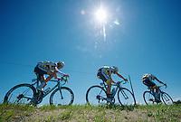 2013 Giro d'Italia.stage 13: Busseto - Cherasco ..Team Vacansoleil-DCM grouped in the peloton