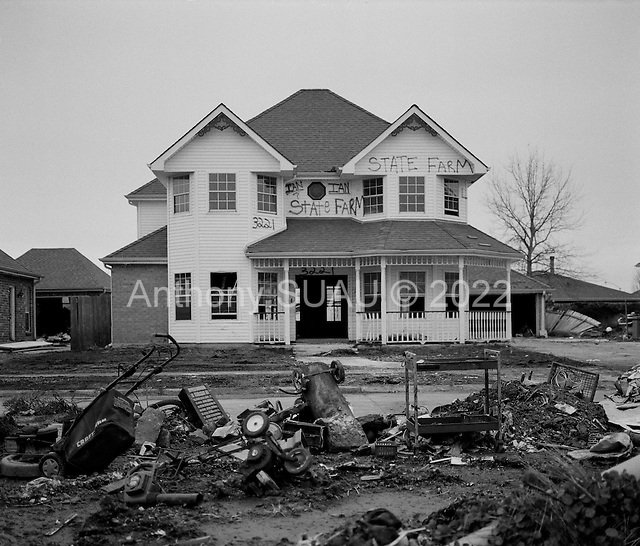 St. Bernards Parish, Louisiana.USA.February 20, 2006..Hurricane Katrina damage to residential homes...