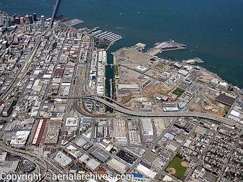 Historical aerial photograph of Mission Bay, San Francisco, California, 2009