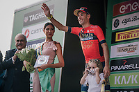 Vincenzo Nibali (ITA/Bahrain-Merida) on the podium yet again in Lombardia, but 'only' 2nd this time...<br /> <br /> 112th Il Lombardia 2018 (ITA)<br /> from Bergamo to Como: 241km