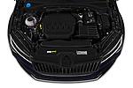Car Stock 2020 Skoda Superb-Combi Sportline 5 Door Wagon Engine  high angle detail view