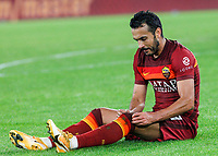 Roma s Pedro sits on the pitch during the Serie A soccer match between Roma and Benevento at Rome's Olympic Stadium, October 18, 2020.<br /> UPDATE IMAGES PRESS/Riccardo De Luca