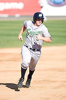 July 18, 2010: Eugene Emeralds' Jedd Gyorko (#3) rounds second base and heads for third during a Northwest League game against the Everett AquaSox at Everett Memorial Stadium in Everett, Washington.
