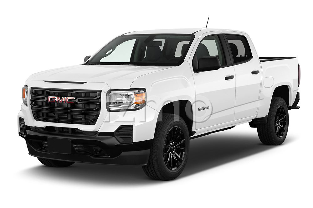 2021 GMC Canyon Elevation-Standard 4 Door Pick-up Angular Front automotive stock photos of front three quarter view