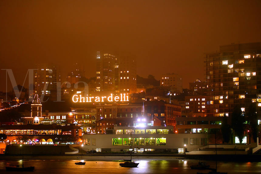 Ghirardelli Square and Fisherman's Wharf from the Maritime Park, San Francisco, California