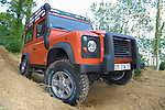 Off roading 2006 Land Rover Defender TD5, Land Rover France G4 Challenge edition. Europe, UK, England. --- No releases available. Automotive trademarks are the property of the trademark holder, authorization may be needed for some uses.