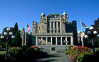Parliament Building called The Birdcages, Victoria, British Columbia, Canada