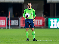 WASHINGTON, DC - APRIL 17: Referee Ted Unkel waits for the team during a game between New York City FC and D.C. United at Audi Field on April 17, 2021 in Washington, DC.