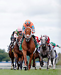 ARLINGTON HEIGHTS, IL - AUGUST 13: Da Big Hoss #5, ridden by Florent Geroux, wins the American St. Leger Stakes at Arlington International Racecourse on August 13, 2016 in Arlington Heights, Illinois. (Photo by Jon Durr/Eclipse Sportswire/Getty Images)