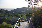 View of the Hollywood Hills from a viewpoint on Mulholland Drive, Los Angeles, CA