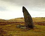 Bordastubble Standing Stone, Burragarth, Unst, Shetland Islands Scotland. Celtic Britain published by Orion