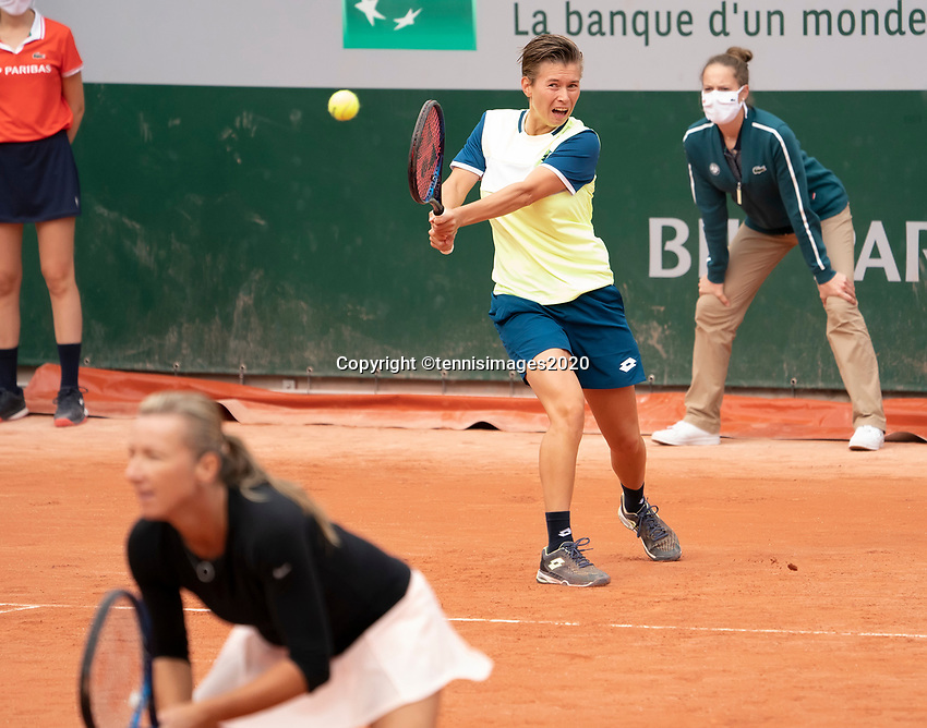 Paris, France, 30 May, 2020, Tennis, French Open, Roland Garros, Womans doubles,: Demi Schuurs (NED) (BACK) and Kveta Peschke (CZE)<br /> Photo: Fred Mullane/tennisimages.com