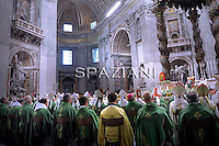 Pope Benedict XVI celebrates mass in the Vatican Basilica of St. Peter, at the conclusion of the Special Synod for the Middle East October 24, 2010,