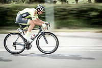 Baptiste Planckaert (BEL/Wallonie Bruxelles) on speed. <br /> <br /> <br /> Circuit de Wallonie 2019<br /> One Day Race: Charleroi – Charleroi 192.2km (UCI 1.1.)<br /> Bingoal Cycling Cup 2019