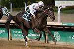 September 18, 2021: Great Escape #9, ridden by jockey Tyler Gaffalione wins a maiden special weight at Churchill Downs in Louisville, K.Y. on September 18th, 2021. Jessica Morgan/Eclipse Sportswire/CSM