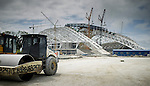 General views of the venues for the Sochi 2014 Winter Olympic Games during the construction on 22 April 2013 on the northeast coast of the Black Sea, Russia. Photo by Victor Fraile / Power Sport Images