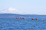 Port Townsend, Rat Island Regatta, rowers, Coeur D'alene Rowing; Maas 2X, Riverside, quad,racing, Sound Rowers, Rat Island Rowing Club, Puget Sound, Olympic Peninsula, Washington State, water sports, rowing, kayaking, competition,