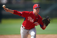 Philadelphia Phillies pitcher Robert Tasin (56) during an instructional league game against the Toronto Blue Jays on October 3, 2015 at the Carpenter Complex in Clearwater, Florida.  (Mike Janes/Four Seam Images)