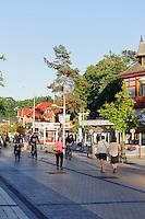 Touristenstraße in Palanga, Litauen, Europa