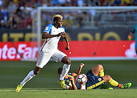 Santa Clara, CA. - June 3, 2016: The U.S. Men's national team go down 0-1to Colombia in first half action in their opening match at the 2016 Copa America Centenario at Levi's stadium.