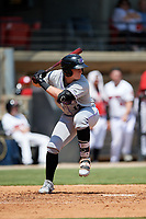 Winston-Salem Dash Andrew Vaughn (12) at bat during a Carolina League game against the Carolina Mudcats on August 14, 2019 at Five County Stadium in Zebulon, North Carolina.  Winston-Salem defeated Carolina 4-2.  (Mike Janes/Four Seam Images)