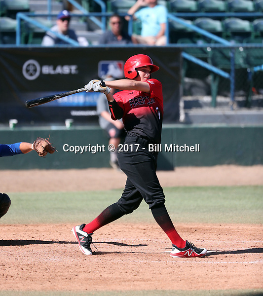 Trevor Doyle plays in the 2017 Area Code Games on August 6-10, 2017 at Blair Field in Long Beach, California (Bill Mitchell)