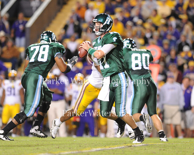 Highlights from Tulane vs. LSU played on October 31, 2009 in Tiger Stadium. The 9th ranked Tigers were victorious 42-0.  Please note: Image is not available for purchase or distribution and displayed only as a representation of my photography.