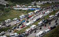 Yellow Jersey group coming up towards Val thorens<br /> <br /> shortened stage 20: Albertville to Val Thorens(59km in stead of the original 130km due to landslides/bad weather)<br /> 106th Tour de France 2019 (2.UWT)<br /> <br /> ©kramon