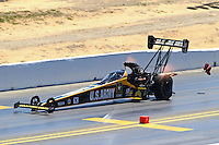 Jul. 27, 2014; Sonoma, CA, USA; NHRA top fuel driver Tony Schumacher during the Sonoma Nationals at Sonoma Raceway. Mandatory Credit: Mark J. Rebilas-