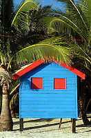 The colors of Boracay,Philippines, a simple beach hut