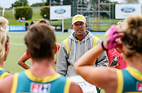 Australia coach Jason Duff during the Trans Tasman Trophy hockey match between the Blacksticks Women and Australia Hockeyroos at Lloyd Elsmore Park in Auckland, New Zealand on Thursday, 17 November 2016. Photo: Simon Watts / www.bwmedia.co.nz