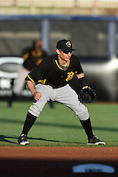 Bradenton Marauders shortstop Max Moroff (31) during a game against the Charlotte Stone Crabs on April 4, 2014 at Charlotte Sports Park in Port Charlotte, Florida.  Bradenton defeated Charlotte 9-1.  (Mike Janes/Four Seam Images)