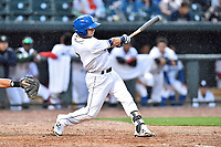 Southern Division designated hitter Max George (3) of the Asheville Tourists swings at a pitch during the South Atlantic League All Star Game at Spirit Communications Park on June 20, 2017 in Columbia, South Carolina. The game ended in a tie 3-3 after seven innings. (Tony Farlow/Four Seam Images)