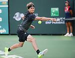 Alexander Zverev (GER) defeated Andy Murray (GBR) 6-4, 7-6 (7-4), at the BNP Paribas Open being played at Indian Wells Tennis Garden in Indian Wells, California on October 12,2021: ©Karla Kinne/Tennisclix/CSM