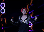 JYJ, Aug 09, 2014 : South Korean boy band JYJ's Junsu performs during the group's concert, 'THE RETURN OF THE KING' at Jamsil stadium in Seoul, South Korea.  (Photo by Lee Jae-Won/AFLO) (SOUTH KOREA)