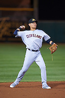 Mesa Solar Sox Yu-Cheng Chang (13), of the Cleveland Indians organization, during a game against the Scottsdale Scorpions on October 17, 2016 at Scottsdale Stadium in Scottsdale, Arizona.  Mesa defeated Scottsdale 12-2.  (Mike Janes/Four Seam Images)