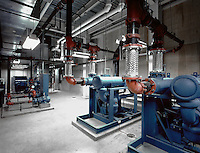 The interior of a water purification facility.