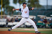 Blake Money during the WWBA World Championship at the Roger Dean Complex on October 20, 2018 in Jupiter, Florida.  Blake Money is a right handed pitcher Spring Hill, Tennessee who attends Summit High School and is committed to Louisiana State.  (Mike Janes/Four Seam Images)