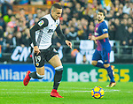 Rodrigo Moreno of Valencia CF runs with the ball during the La Liga 2017-18 match between Valencia CF and FC Barcelona at Estadio de Mestalla on November 26 2017 in Valencia, Spain. Photo by Maria Jose Segovia Carmona / Power Sport Images