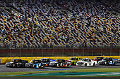 NASCAR Camping World Truck Series<br /> North Carolina Education Lottery 200<br /> Charlotte Motor Speedway, Concord, NC USA<br /> Friday 19 May 2017<br /> Kyle Busch, Cessna Toyota Tundra and Christopher Bell, SiriusXM Toyota Tundra<br /> World Copyright: Nigel Kinrade<br /> LAT Images<br /> ref: Digital Image 17CLT1nk05058