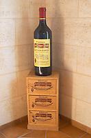 Bottles aging in the cellar. Chateau la Grace Dieu les Menuts, Saint Emilion, Bordeaux, France