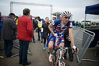 US Champion Jeremy Powers (USA/Rapha-Focus) after the finish<br /> <br /> Koksijde CX World Cup 2014