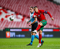 201115 -- LISBON, Nov. 15, 2020 -- Portugal s Cristiano Ronaldo R shoots during the UEFA Nations League football match against France in Lisbon, Portugal, Nov. 14, 2020. Photo by /Xinhua SPPORTUGAL-LISBON-FOOTBALL-UEFA NATIONS LEAGUE-PORTUGAL VS FRANCE DiogoxPinto PUBLICATIONxNOTxINxCHN <br /> Cristiano Ronaldo Nazionale Portogallo <br /> ITALY ONLY <br /> Photo Imago/Insidefoto
