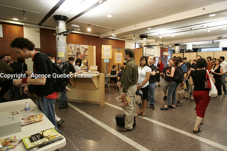 JUly 2005 File Photo - Poeple buying ticket  on Opening of Fantasia (Film) Festival in Montreal